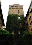 Stone tower Florence fortification, Tuscany, Italy Royalty Free Stock Images