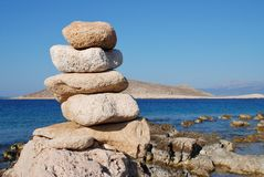 Stone tower, Halki island Royalty Free Stock Photos