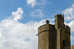 Stone tower of a medieval castle Royalty Free Stock Images