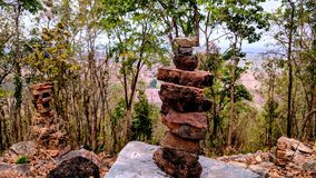 Stone tower. On the mountain and good view for vacation time Stock Image