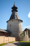 Stone tower of old fortress. Kremlin of Pskov Royalty Free Stock Photos