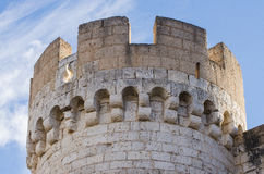 Stone tower of Penafiel Castle, Royalty Free Stock Image