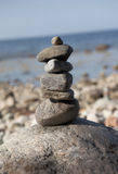 Stone tower on rocks Royalty Free Stock Photography