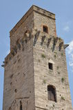 A stone tower in San Gimignano Stock Photography