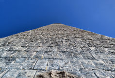 Stone tower and the sky Royalty Free Stock Photo