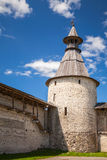 Stone tower and walls of old fortr. Kremlin of Pskov Stock Photography