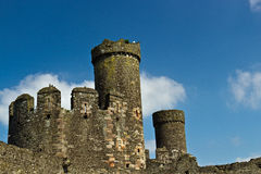 Stone towers of a medieval castle fortress Stock Image