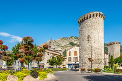 Stone Towers in Sisteron. Royalty Free Stock Images