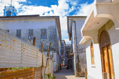 Stone Town Alley Stock Photo