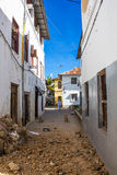 Stone Town Alley Royalty Free Stock Photography