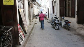 Stone Town alley stock video footage