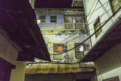 Stone town alley ways on Zanzibar Island at night stock photography