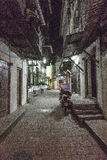 Stone town alley ways on Zanzibar Island at night Stock Images