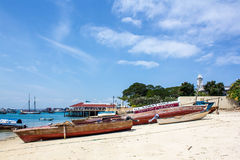 Stone Town Beach Royalty Free Stock Photography