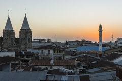 Stone Town in Zanzibar at night Royalty Free Stock Images