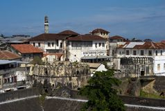 A Beautiful Cityscape of Stone Town, Zanzibar royalty free stock photo