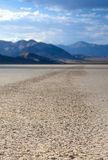Stone Trace on Racetrack Playa Dry Lake In Death Valley National Stock Images