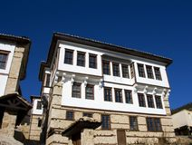 Stone traditional house in Kastoria city Greece Stock Photos