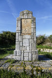 Stone tribute to Navarra brigades to release in the civil war Llanes Stock Images
