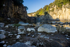 Stone trown in a river, Italy Royalty Free Stock Photos