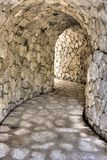 Stone tunnel Stock Images