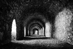 Stone tunnel Royalty Free Stock Images