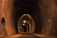 Stone tunnel Royalty Free Stock Photos