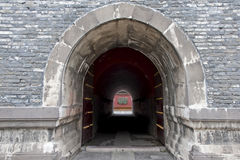 Stone tunnel in Shenyang Forbidden City Stock Photo