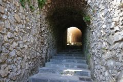 Stone tunnel Royalty Free Stock Photos