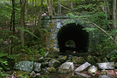 Stone Tunnel in the Woods 1 (horizontal) Stock Images