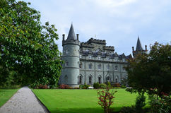 Stone Turrets and Towers at Inveraray Castle Stock Images