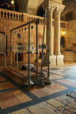 Stone of Unction, Temple of the Holy Sepulcher in Jerusalem Royalty Free Stock Photography