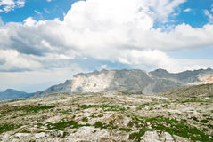 Stone valley in Dolomites mountains Stock Image