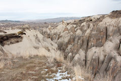 Stone valley of winter Cappadocia Stock Image