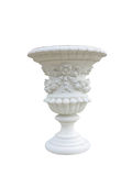 Stone vase in the old classical style with isolated over white Stock Image