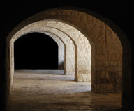 Stone vaults. And unknown darkness Royalty Free Stock Photo