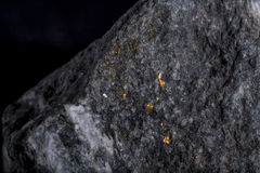 Stone with vein of gold Royalty Free Stock Images