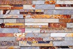 Stone veneer background. Background of natural slate stone veneer wall Stock Images