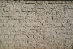 Stone veneer wall. Texture and pattern of stone veneer wall Royalty Free Stock Photography