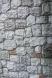 Stone veneer wall. Texture and pattern of stone veneer wall Royalty Free Stock Images