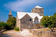 Stone village of Skrip landmarks view Royalty Free Stock Photo