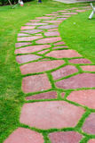 Stone walk path in the park Royalty Free Stock Photography
