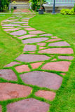 Stone walk path in the park Stock Photography
