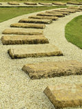 Stone walk paths in the park Stock Image