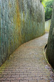 Stone walk way in tunnel at Fort Canning Park, Singapore Stock Photography