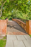 Stone Walking Bridge in a Park Royalty Free Stock Photography