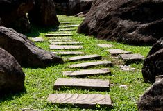 Stone walkway Royalty Free Stock Image