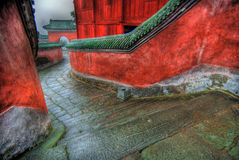 Stone Walkway. Leading through the Wudang Shan Temple in the Hubei district of China Stock Photos