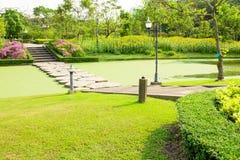 Stone walkway across water Royalty Free Stock Image