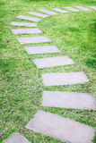 Stone walkway in the garden Stock Image